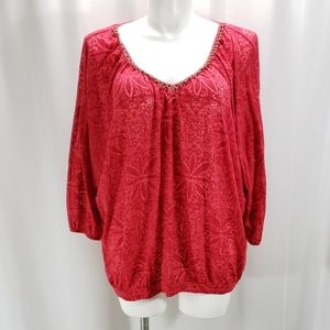 [French Laundry] 22/24 Beaded Neck Dolman Top